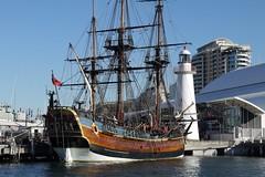 Old Sailing Ship, Darling Harbour, Sydney (Yortw) Tags: old lumix sailing ship harbour sydney may australia panasonic darling 2014 microfourthirds dmcg10