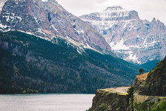 Glacier National Park (Philina_) Tags: park red mountain lake snow nature st forest landscape montana mary glacier national