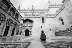 Granada (andrea.sereno82) Tags: blackwhite bw granada spain spagna andalusia cathedral street photography monocromo architettura alone architecture cattedrale fuji xmount 1024mm world photog raphy black white candid going collecting souls fac es seelenraub moments decisive moment creative com mons flickr flickriver explore best camera prime lens portrait scene strassenfotografie foto grafie city snap unposed streettog tog