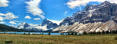 Bow Lake & Crowfoot Glacier, banff National park, Alberta, Canada - ICE(5)440-445 (photos by Bob V) Tags: panorama mountains rockies alberta banff rockymountains mountainlake albertacanada banffnationalpark bowlake canadianrockies crowfootglacier banffpark mountainpanorama