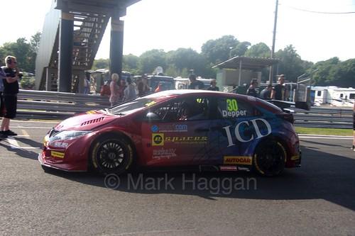 Martin Depper during the BTCC weekend at Oulton Park, June 2016