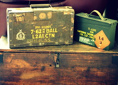 ammo boxes (Jackal1) Tags: wood old texture metal canon vintage army 50mm box decay military storage ammo padlock cartridge rounds ammocase