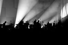 Silhouette (camerue) Tags: silhouette rock lights blackwhite band bap indoor duisburg