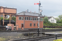 Kidderminster Station Signal Box (Midland Red FanBoy) Tags: travel england train trains transportation severnvalleyrailway kidderminster passengertrains severnvalleyrailwayspringdieselgala