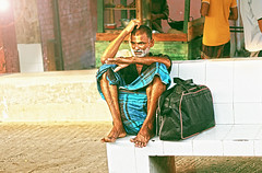 The Contemplative psyche (aSad.KUET09) Tags: life street old man station flickr thinking older reality aged conceptual tension bangladesh senescene