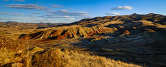 Painted Hills Panorama- (Tristan Rayner) Tags: panorama oregon paintedhills