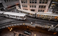 Train (BartPhotography) Tags: street chicago buildings subway illinois downtown metro parking l ltrain intersection