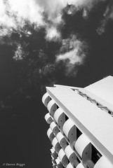 Reach For The Sky. (I'mDKB) Tags: blackandwhite bw monochrome architecture clouds october tenerife 24mm canaries canaryislands icoddelosvinos 24mmf28d 2013 lascanarias nikond600 lr5 imdkb lightroom5