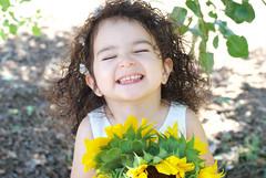 Gianna_0164 (Ciara*) Tags: girl kid toddler smiles cutie niece sunflower