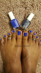 Essie - Butler Please and accent of Stroke of Brilliance (NailPolishDude23) Tags: blue sexy male guy feet girl beautiful beauty fashion glitter toes pretty bare nail polish rings pedicure sole footfetish leggings essie toerings pedi essir bblogger teamprettyfeet nailblogger
