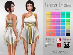 [Al-Hanna] Helena Dress (Alhanna Ysabel) Tags: woman classic greek costume mujer dress mesh roman romano disfraz normal vestido belleza griego maitreya slink alhanna fitmesh
