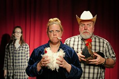 The Evening Thelma and Elmer read Poultry at the Manigotapi Poetry Slam (Studio d'Xavier) Tags: chickens poetryslam 365 jiggerypokery score30 werehere 149366 manigotapi poultryslam may282016