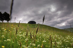 Atom on a hill (Tony Shertila) Tags: england sky weather clouds europe day cloudy britain outdoor lancashire installation atom panopticon wycoller petermeacock katarinanovomestska 20160618133244