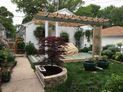 Painting and staining the deck and pergola this summer (Kim Beckmann) Tags: painting diy pergola happyplace summerproject designbuild