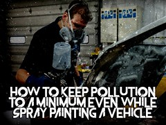 How To Keep Pollution To A Minimum Even While Spray Painting A Vehicle (IamSophieG) Tags: car singapore paint dent grooming removal protection services polishing paintless