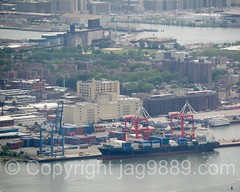 Red Hook Container Terminal on Buttermilk Channel, New York City (jag9889) Tags: nyc newyorkcity usa ny newyork building architecture brooklyn skyscraper boat ship unitedstates crane outdoor manhattan unitedstatesofamerica worldtradecenter sightseeing aerialview vessel terminal container wtc redhook groundzero lowermanhattan touristattraction 1776 observationdeck 2016 kingscounty freedomtower buttermilkchannel seeforever 1wtc oneworldtradecenter jag9889 oneworldobservatory 285fultonstreet 20160601