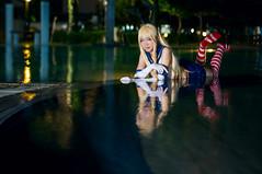 Shimakaze (bdrc) Tags: asdgraphy shimakaze kancolle kantai collection lala night flash swimming pool cosplay girl portrait outdoor sony nex6 nikkor 50mm f14d manual prime