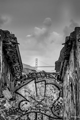 Lands End (Maripalli) Tags: sanfrancisco california bridge blackandwhite sfo goldengate
