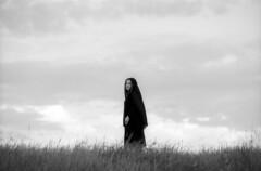 Captive of Fate (Dmitriy Ryabov) Tags: portrait blackandwhite bw woman film girl monochrome canon photography photo 70200 canon1v canoneos1v fujineopanacros100 canonef70200mmf28lisiiusm dmitriyryabov