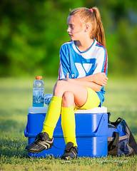 Player at Rest (augphoto) Tags: augphotoimagery tori kids people soccer sports greenwood southcarolina unitedstates