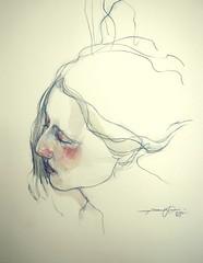 P1015070 (Gasheh) Tags: portrait art girl pencil watercolor painting sketch drawing 2015 gasheh
