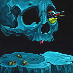 To Bee Dead II (LOaF NINjA) Tags: life bird death skull acrylic bees surreal collapse colony europeanbeeeater nicholasboyd acry loafninja tobeedead