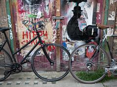Puma Court Shoot (grobs gfx) Tags: streetart london bike bicycle graffiti cycling levi hackney adidas spitalfields spitalfieldsmarket rapha eastlondon libertyoflondon stansmith velocitygirl cyclechic pumacourt cyclestyle ladyvlo colourbolt