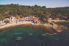 s'Alguer. (arturii!) Tags: trip travel trees sea summer people beach nature colors beauty sport forest wow landscape town flying amazing cool nice interesting fisherman holidays colorful europe mediterranean kayak tour view place superb outdoor unique secret awesome great shoreline playa catalonia aerial hidden route stunning viatge summertime visual vacations costabrava impressive gettyimages platja drone palamos salguer dron arturii arturdebattk canonoes6d