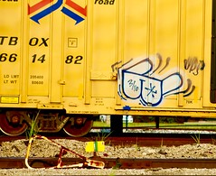 Watchman (mightyquinninwky) Tags: graffiti glasses tag indiana railway tags cargo tagged southernindiana transportation rails spraypaint boxcar railfan evansville watchman railart spraypaintart movingart benched evansvilleindiana paintedboxcar