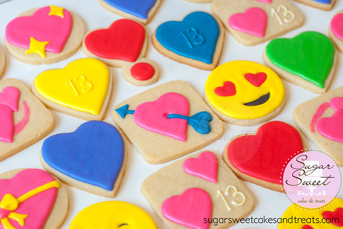 Emoji Heart Cookies