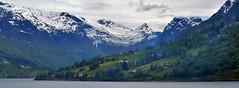 NORDFJORD By Angela Wilson (angelawilson2222) Tags: cruise water weather norway rock village view formation valley fjord dwellings crag nordfjord sognogfjordane