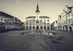 Hometown - Market square (c.bluem) Tags: city blackandwhite bw canon place hometown townhall marketsquare 760d