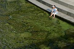 Stream Girl (Mondmann) Tags: city water girl youth fun kid asia stream child korea seoul recreation southkorea rok splashing eastasia republicofkorea cheonggyecheonstream mondmann citystream canonpowershotg7x