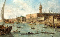 Francesco Guardi - The National Gallery (London) NG2099. The Doge's Palace and the Molo (c.1770) (lack of imagination) Tags: people buildings boats blog cityscape ships gondolas nationalgallerylondon francescoguardi 15002000
