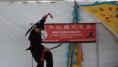 Double Broad Sword (hansntareen) Tags: cambridge dancers kungfu dragonboatfestival2016