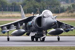Harrier (Bernie Condon) Tags: uk tattoo plane flying fighter display aircraft aviation military attack airshow british bae bomber raf warplane airfield harrier ffd fairford riat raffairford airtattoo riat09