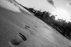 Footprints (Sylvain C-G ) Tags: sea sun sand martinique footprints ste luce madinina