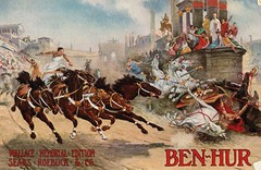 Antique Postcard - Ben Hur, Sears, Roebuck & Co. Advertisement (Brynn Thorssen) Tags: blue shadow horses ski rome promotion clouds race vintage advertising teams ancient memorial driving ben cloudy roman crash accident antique sears postcard wheels ad columns bluesky racing colosseum advertisement dirt latin whip wallace classical racers edition promotional epic toga chariot whips colisseum romans drivers hur collision colliseum roebuck partlycloudy coloseum benhur togas reigns chariots steeds roebuckco wallacememorialedition