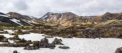First Day of Summer in the Highlands (katrin glaesmann) Tags: snow mountains sunshine landscape island iceland highlands pano firstdayofsummer stitched landmannalaugar hochland fjallabaknaturereserve