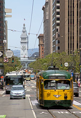 Market Street (Justin Franz) Tags: sanfrancisco california train muni marketstreet streetcar 2017msrcalendar