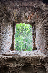 Looking to the Past (derekbruff) Tags: window ruins cathedral panama oldcity panamacity 16thcentury