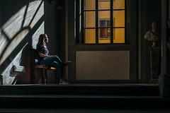 (FriendFisherman) Tags: light shadow sunlight window licht natural availablelight fenster naturallight frau schatten available schauen gucken