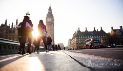 London | Instagram: @bayanalsadiq (Bayan AlSadiq) Tags: street uk travel blue light people sunlight london bigben     bigbin