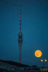 Erdbeermond (S.Rose Fotografie) Tags: sky moon night canon germany landscape dresden nacht himmel sachsen fernsehturm manfrotto vollmond erdbeermond