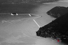 The Floating Piers (improntediluce15) Tags: floating piers is lago tramonto pontile galleggiante brescia italy isola bw