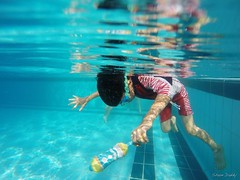 Diving (shundaddy) Tags: hongkong snapshot people portrait life family kid      gopro hero hero3 action sport water swim blue green pool       2016