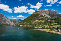 Eidfjorden (Viv Lynch) Tags: ocean travel cruise sea summer vacation mountain holiday mountains nature norway landscape norge europe north northsea cruiseship fjord hal eurotrip hordaland fjords hardanger hollandamerica nordiccruise koningsdam