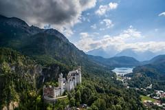 Neuschwanstein (Chris Buhr) Tags: mountains castle clouds sommer wolken berge alpen neuschwanstein schloss sonne ludwig hohenschwangau idylle alpsee schlos