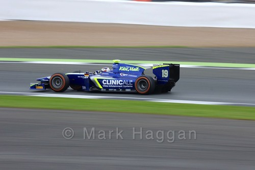 Marvin Kirchhöfer in his Carlin car in the GP2 Feature Race at the 2016 British Grand Prix