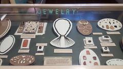 Ancient Puebloan jewelry in the museum